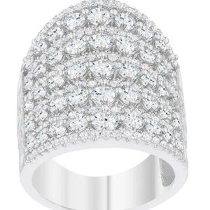 Charlyn Art Deco Cluster Statement Cocktail Ring |